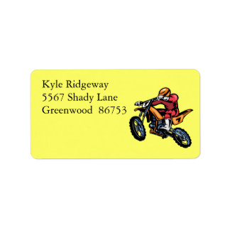 Motorcross Address Label ll