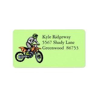 Motorcross Address Label lll