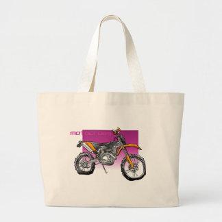 motorcross de la bici campo a través bolsa tela grande