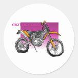 motorcross de la bici campo a través pegatina redonda