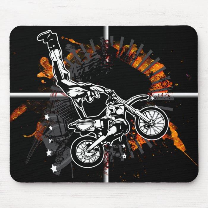 Motorcross Grunge Jumper Mousepad