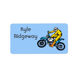 Motorcross Name Label