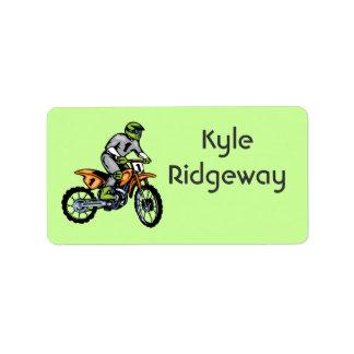 Motorcross Name Label lll
