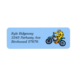Motorcross  Return Address Label