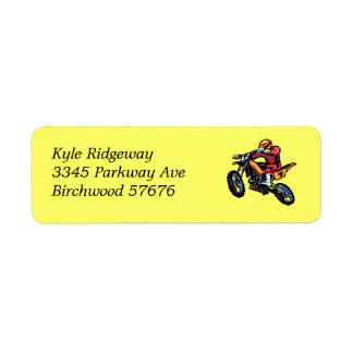 Motorcross  Return Address Label ll