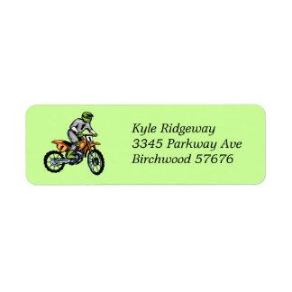 Motorcross  Return Address Label lll
