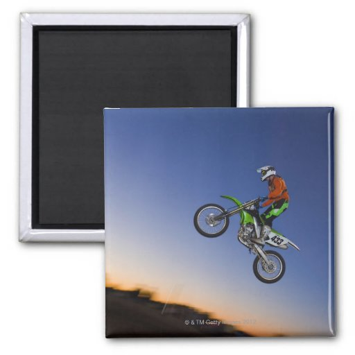 Motorcross Rider 2 Inch Square Magnet