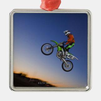 Motorcross Rider Metal Ornament