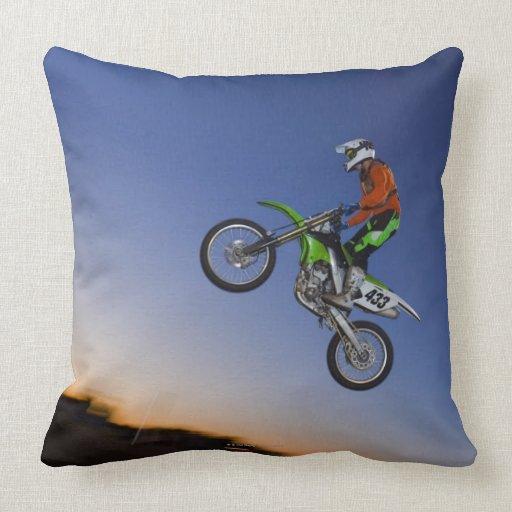 Motorcross Rider Pillow