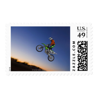 Motorcross Rider Postage Stamp