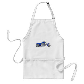 Motorcycle 1 - Blue Adult Apron