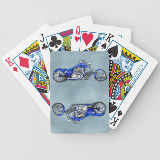 Motorcycle 1 - Blue Bicycle Playing Cards