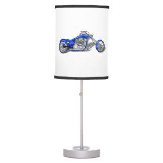 Motorcycle 1 - Blue Desk Lamp