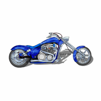 Motorcycle 1 - Blue Statuette