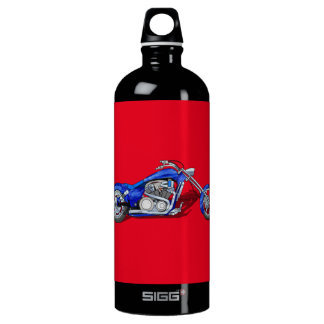 Motorcycle 1 - Blue Water Bottle