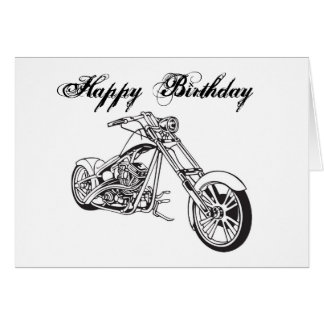 Motorcycle..2, Happy Birthday Card