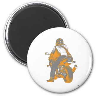 Motorcycle 2 Inch Round Magnet
