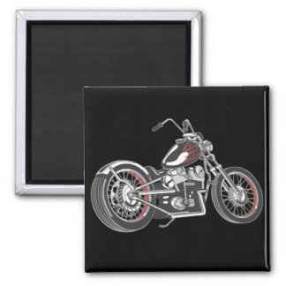 Motorcycle. 2 Inch Square Magnet