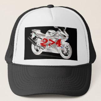 motorcycle 2 wheels better then four trucker hat
