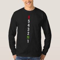 Motorcycle 6 Gear Shifting Pattern 1-6 T-Shirt