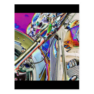 Motorcycle Abstract Postcard