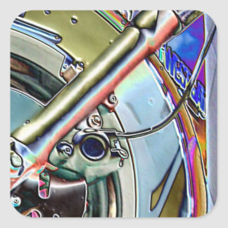Motorcycle Abstract Square Sticker