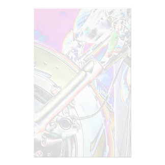 Motorcycle Abstract Stationery