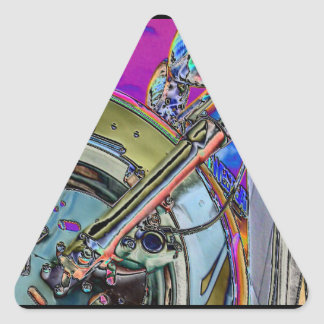 Motorcycle Abstract Triangle Sticker
