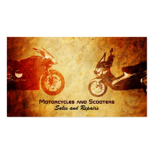 Motorcycle and Scooter Business Cards