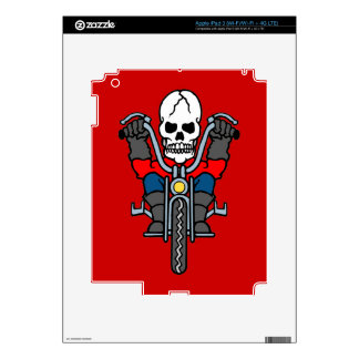 Motorcycle and skull decals for iPad 3