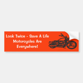Motorcycle Awareness Bumper Stickers Car Stickers Zazzle - Custom motorcycle bumper stickers awareness