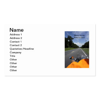 Motorcycle Awareness Double-Sided Standard Business Cards (Pack Of 100)