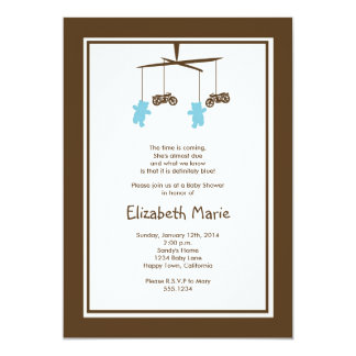Motorcycle Baby Shower Invitation