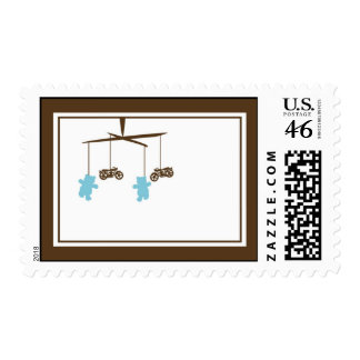 Motorcycle Baby Shower Stamp