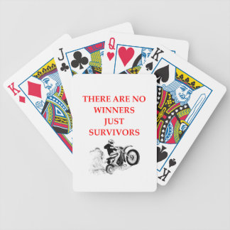 motorcycle bicycle playing cards