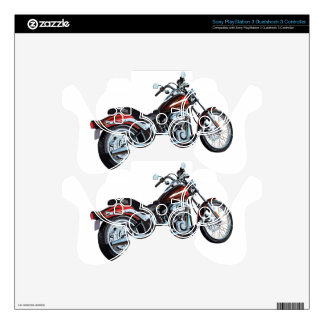 Motorcycle Bike Biker Decal For PS3 Controller