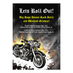Motorcycle Biker Road Rally Event Invitation