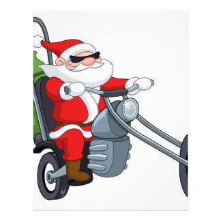 motorcycle biker santa claus letterhead