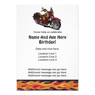 Motorcycle Birthday Invites