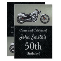 Motorcycle 50th birthday invitations best motorcycle 2018 harley davidson 50th birthday invitations filmwisefo Image collections