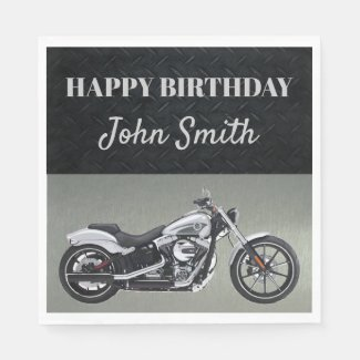 Motorcycle Birthday Party Napkins