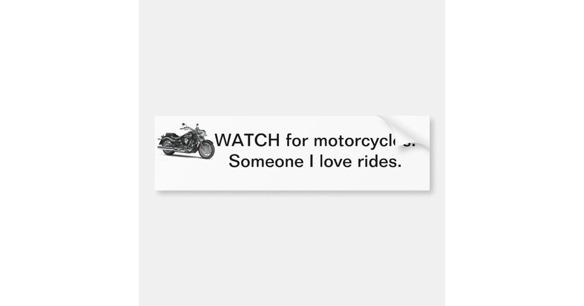 Motorcycle Bumper Stickers Car Stickers Zazzle - Motorcycle bumper custom stickers