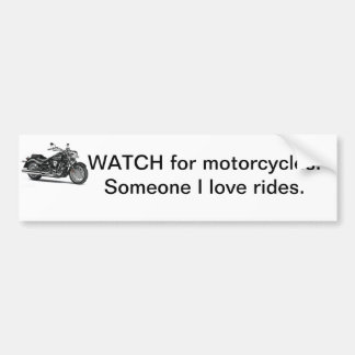 Motorcycle bumper sticker car bumper sticker
