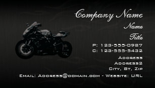 Motorcycle Repair Business Cards Zazzle