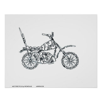 MOTORCYCLE by NICHOLAS          MINIFACES Poster