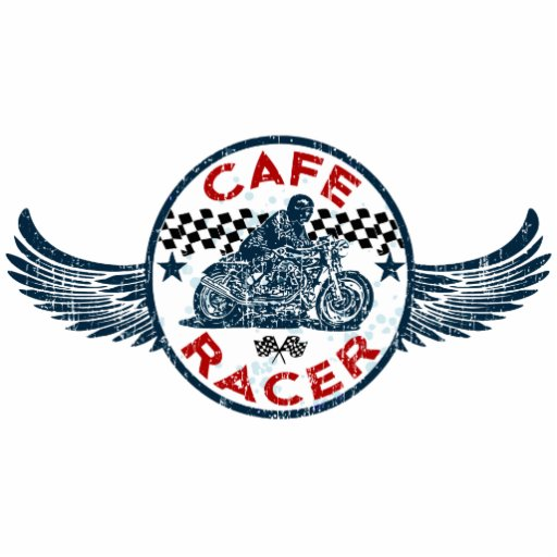 Motorcycle Cafe racer Standing Photo Sculpture