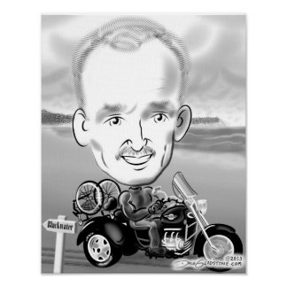 Motorcycle Caricature Print