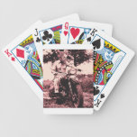 Motorcycle cat bicycle poker cards