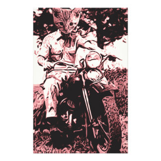 Motorcycle cat stationery