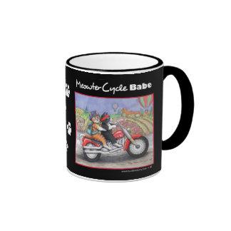 Motorcycle Cats Black 11 oz Ringer Mug